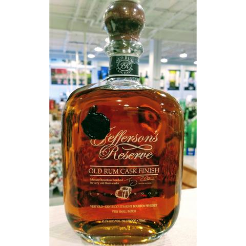 Jefferson's Reserve Old Rum Cask Finish Bourbon (very limited amount available)