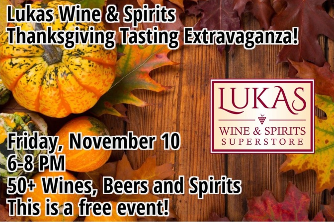 Thanksgiving Tasting Tonight!