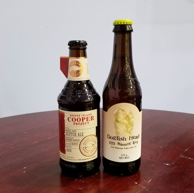 Dogfish Head 120 Minute and Goose Island Cooper Project Scotch Ale