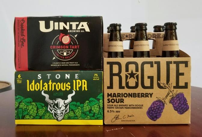 New Beer: Uinta, Stone, Rogue