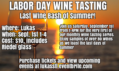 labor day wine event flyer GOOD