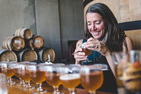 lauren-with-sour-beers-crtsy-new-belgium-brewing-company