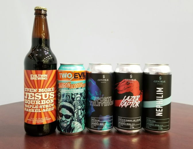 New Beer: Evil Twin, Central State, Fat Orange Cat, Decadent, Abomination, Nightmare