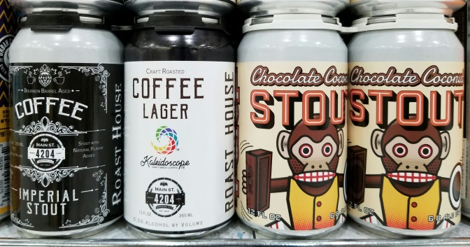 4204 Main Street Chocolate Coconut Stout, Coffee Imperial Stout, Coffee Lager