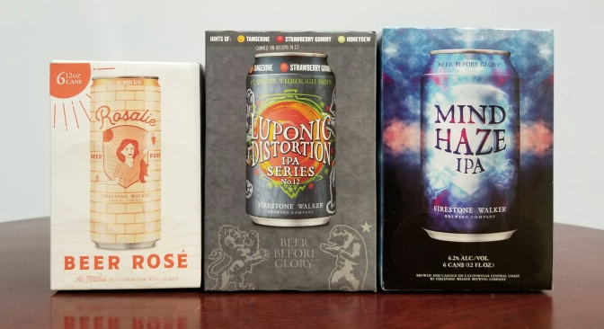 Firestone Walker Rosalie, Luponic Distortion 12, Mind Haze