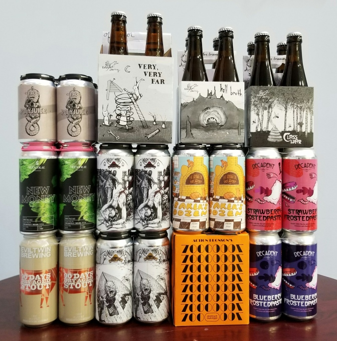 New Beer: Off Color, Decadent, Fat Orange Cat, Nightmare, Central State, Stillwater, Evil Twin